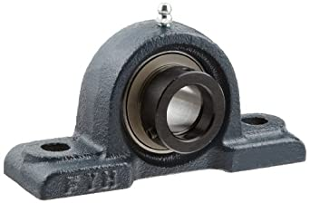 FYH NAPK205 Pillow Block Mounted Bearing, 2 Bolt, 25mm Inside Diameter, Eccentric Lock, Cast Iron, Metric