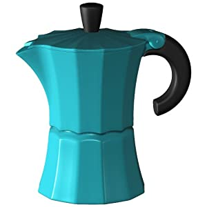 Blue Italian Coffee Maker : 3 Cup Italian Style Stove Top Stovetop Coffee Espresso Maker Moka Pot Blue Colour: Amazon.co.uk ...