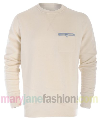 Mens Coloured Marl Chest Pocket Elbow Patch Jersey Sweatshirt Jumper L White Marl