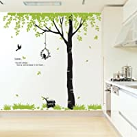 Flying Bird and Big Tree Wall Sticker Decal for Baby Nursery Kids Room from JSSHOP