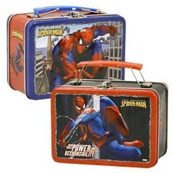 Spiderman Power & Responsibility Small Embossed Lunch Box Tin/ Carry-all - 1