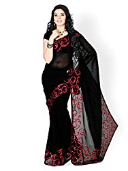 Z Hot Fashion Women's Printed Border work Saree In Georgette Fabric (ZHKN1015...