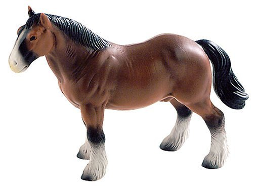 Bullyland Hanoverian Brown Horse Plastic Toy Figure - 1
