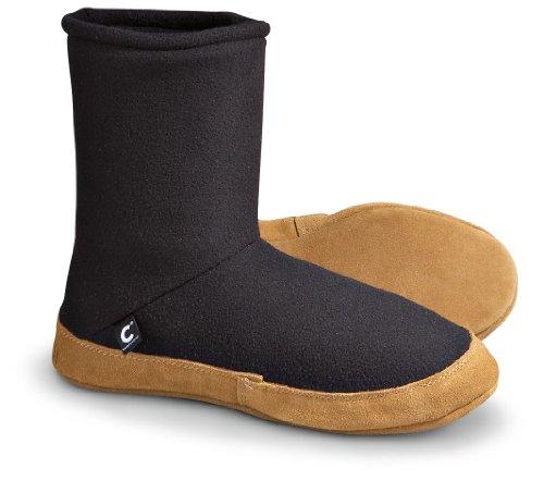 Cheap Men's ComforTemp® Mid Fleece Slippers Black (B001KZYPCS)