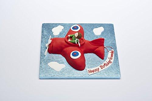 Plane Shaped Aluminum Cake Baking Tin - 25cm x 4.5cm Deep Kitchen Craft