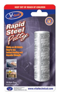 V-tech Rapid Steel Epoxy Putty Works On ALL Metals