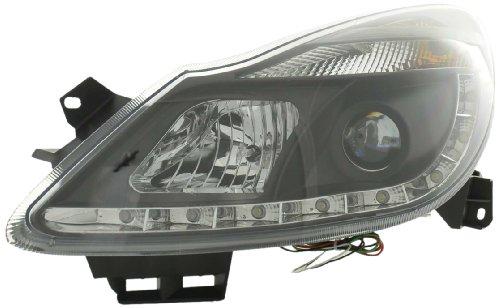 Drl Daylight Headlight Opel Corsa D Yr. 06- Black