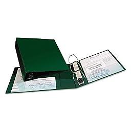 Averyamp;reg; Heavy-Duty Vinyl EZD Ring Reference Binder, 3in Capacity, Green