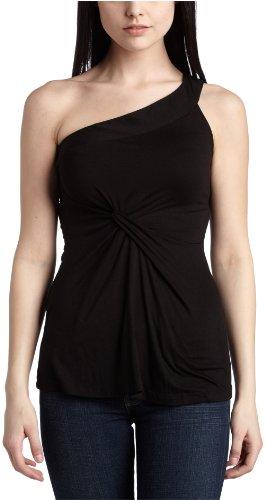 Velvet Women's One Strap Top,Black,Large