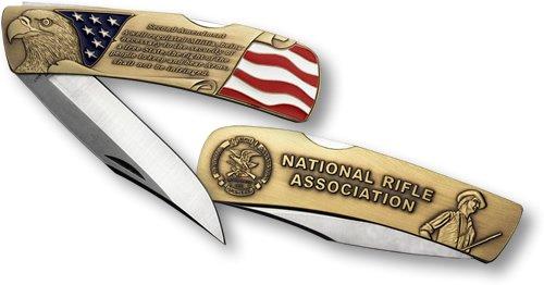 NRA Lockback Knife - Large Bronze Antique