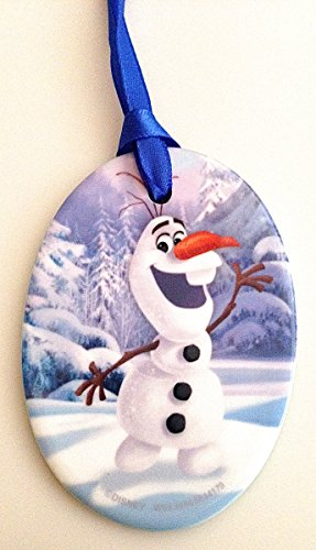 Olaf Frozen Flat Porcelain Ornament