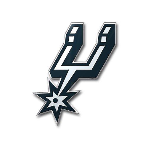 San Antonio Spurs Colored Aluminum Car Auto Color Emblem Decal front-519147