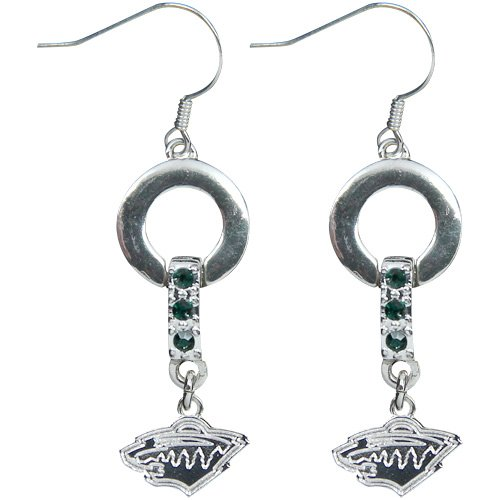NHL Minnesota Wild LogoArt MVP Earrings Picture