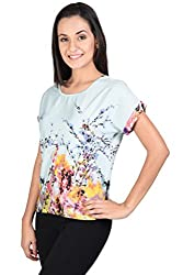 Whistle Short Sleeve Floral Print Women's Top