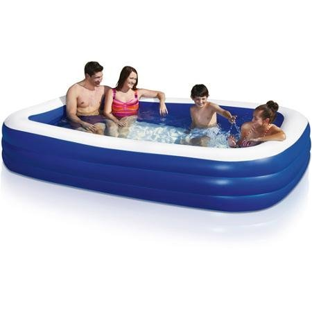 This is not one of those Cheap Swimming Pools - This Family Swimming Pool Is the Best Inflatable Swimming Pool for Everybody. The Above Ground Pool Can Be Used As a Kiddie Pool with Adult Supervision. It Is Great for All Swimming Pool Games and 100% Satisfaction Guaranteed!