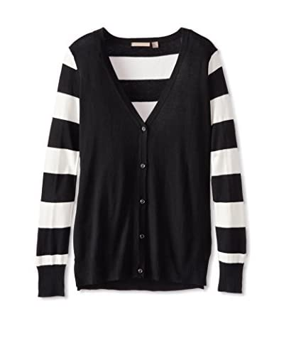 Cashmere Addiction Women's Cardigan with Stripes