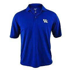 Kentucky Wildcats Antigua Mens Blue Pique Xtra-Lite Polo Shirt by Antigua