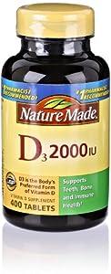 Nature Made Vitamin D 2000 IU, 400 Count