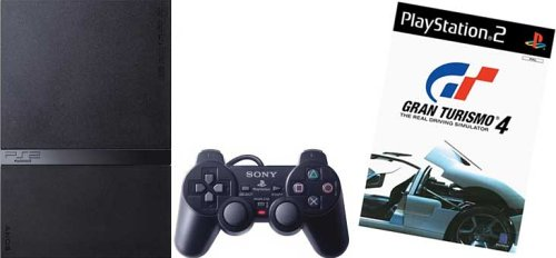 PS2 Console with Gran Turismo 4
