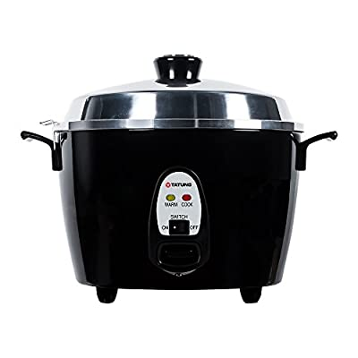 Tatung TAC-10GS-BK 10 Cup Multi-Functional Aluminum Rice Cooker, Black by Tatung