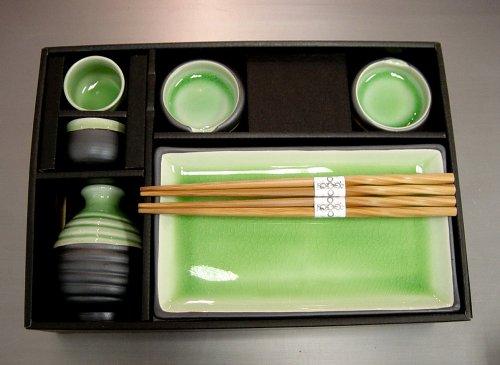 sushi kit online stores sushi plate sake set tea green color. Black Bedroom Furniture Sets. Home Design Ideas