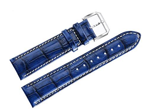 20mm-bandas-relojes-de-lujo-azules-en-la-piel-de-vacuno-genuino-con-el-acolchado-de-cocodrilo-blanco
