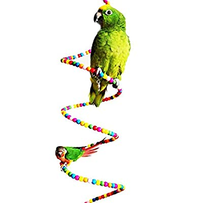Colourful Rotate Ladder Pet Bird Parrot Macaw African Greys Budgies Parakeet Cockatiels Conure Lovebird Finch Toys Cage Toy