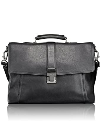 Tumi 高端剑桥真皮公文包Beacon Hill Cambridge Flap Briefcase 黑$371.25