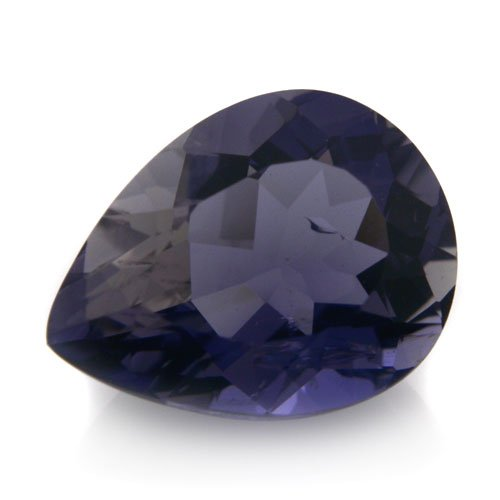 Natural Africa Violet Blue Iolite Loose Gemstone Pear Cut 2.65cts 8*11m SI Grade
