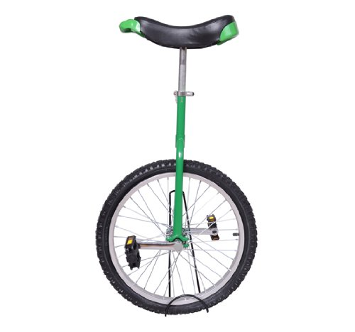 "Review Aosom Deluxe 20"" Wheel Unicycle - Green Frame w/ Stand"