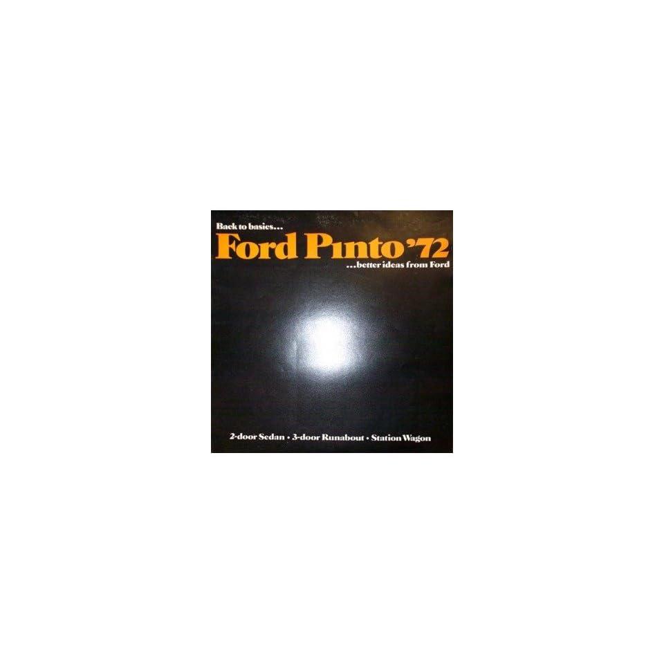 1972 Ford Pinto Sales Brochure Literature Book Piece Advertisement Specs Options