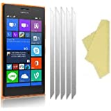 teKKno® [PACK OF 5] NOKIA LUMIA 730 / 735 LCD Screen Protectors Guards And Cleaning Cloths