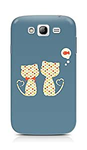 Amez designer printed 3d premium high quality back case cover for Samsung Galaxy Grand i9082 (Cute lovers cat)