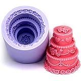 【Ever garden】 ウェディングケーキ シリコンモールド / アロマハイストーン / 手作り 石鹸 / 樹脂 粘土 / レジン / シリコン モールド / 型 抜き型 / キット 道具