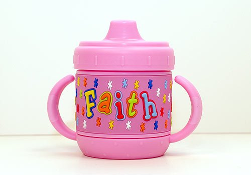 Personalized Sippy Cup: Faith front-52470