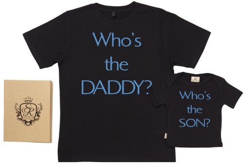 Spoilt Rotten - Who'S The Daddy & Son - Dad & Baby T-Shirt Set - S & 7-8Y
