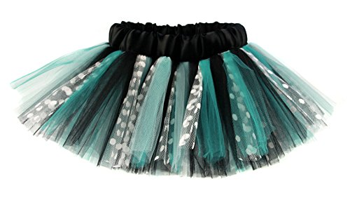 Aqua & Black Polka Dot Designer Girls & Teens Tutu