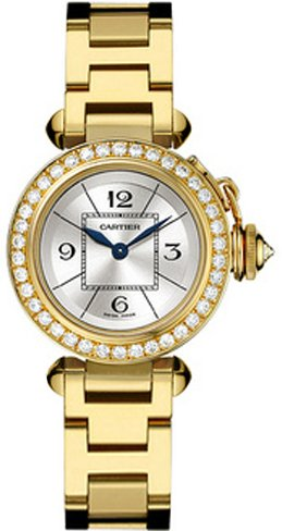 Cartier Miss Pasha Yellow Gold & Diamonds Ladies Watch WJ124014