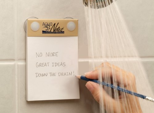 Aqua Notes - Waterproof Notepad 40 Sheet Mountable Pad (Shower Notepad compare prices)