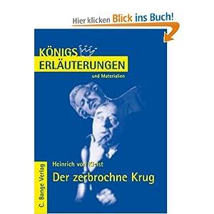 eBook Cover für  K xF6 nigs Erl xE4 uterungen und Materialien Bd 30 Der zerbrochne Krug