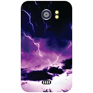 Micromax Canvas 2 A110 Back Cover - Thunder Designer Cases
