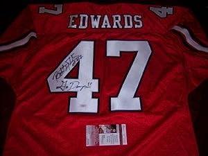 Robert Edwards Autographed Jersey - Georgia Bulldogs patriots Jsa coa by Sports+Memorabilia