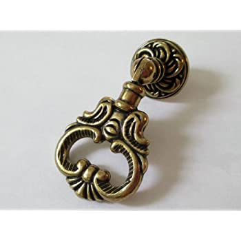 Cabinet Hardware Handle Pull Vintage Look Dresser Pulls Drawer Pull Knobs Drop Ring Handle Antique Bronze 2.4 (60 mm)