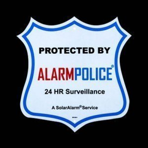 "(1) Surveillance Security Camera 10"" Sign 3M™ *SpotLight White* for Night Viewing"