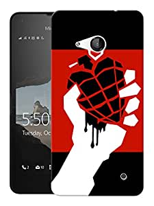 """Humor Gang American Idiot Printed Designer Mobile Back Cover For """"Nokia Lumia 550"""" (3D, Matte, Premium Quality Snap On Case)"""