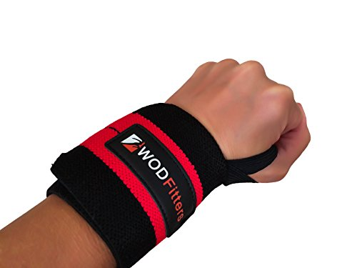WODFitters Wrist Wraps - Increase Your Wrist Strength and Avoid Injury during Weightlifting, Cross Fitness Training, Powerlifting, Bodybuilding with These Sports Wristbands - These Quality Hand Guards / Braces Provide Excellent Support For Both Women & Men while Weight Lifting (18