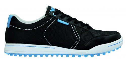 Ashworth Men's Ashworth Cardiff Canvas Golf Shoes, Black, Size 11
