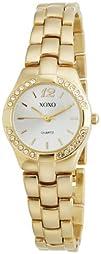 XOXO Womens XO110 Silver Dial Gold-tone Bracelet Watch