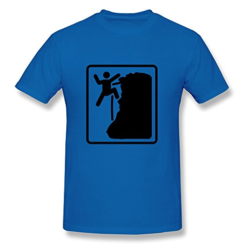 Men Klettern Vintage Tshirt Size Xs Color Royalblue