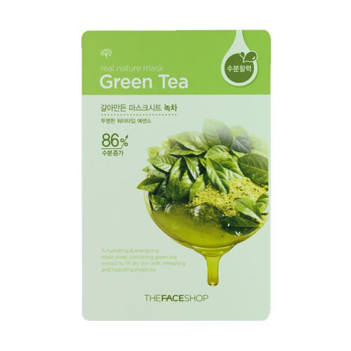 [The Face Shop] Real Nature Green Tea Mask Sheet